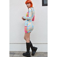 Oslo Blocked Out Mesh Dress