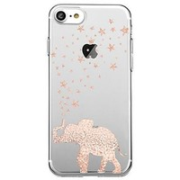 For Ultra Thin Transparent Case Back Cover Case Elephant Soft TPU for iPhone 7 Plus 7 6s Plus 6 Plus 6s 6 SE 5S 5