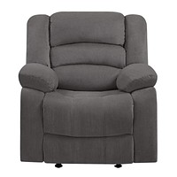 """Modern Lounge Chair - 40"""" Contemporary Grey Fabric Chair"""