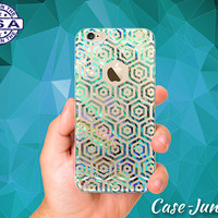 Abalone Hexagon Pattern Texture Shell Tumblr iPhone 5 iPhone 5C iPhone 6 iPhone 6s iPhone 6s Plus and iPhone SE iPhone 7 Plus Clear Case
