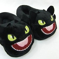 "How to Train your Dragon Toothless Plush Slipper approx 11"" long"