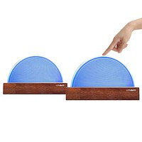 Long Distance Touch Lamps Set of 2 - Keep in Connect with Those You Love, no Matter Where They are.(Oak lamp Holder, WiFi Connection)