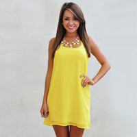 Sleeveless Chiffon with Back Ribbon Casual Mini Dress