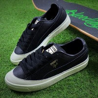 PUMA Suede Bboy Fabulous Classic SOCK Leather Shoes Black White Sneaker