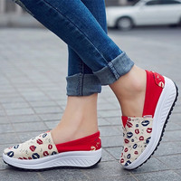 New Canvas Lazy Thick Crust Fashion Loafer