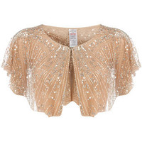 Nude embellished capelet - Accessories Sale - Accessories - Dorothy Perkins