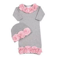 Baby Girl Newborn Take Home Outfit , Little Girls Boutique Clothes, Baby Girl Newborn Sizes 0-6MBundle Of Love Rose Garden