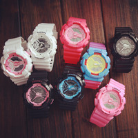 White Black Sports Watch Lover Watches + Gift Box-469