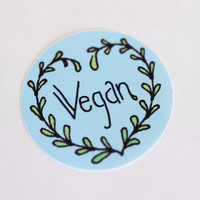 Vegan: 100% Recycled, Eco Friendly Sticker
