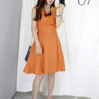 Pintucked Fit and Flare Dress - Miamasvin loves u! Womens Clothing. Korean Fashion.