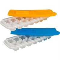 Set of 2 Ice Cube Trays with Lids by Chef Buddy