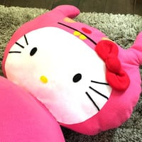 bean bag, adult, teens, kids, pink Hello Kitty / Ugly Doll, oversize chair