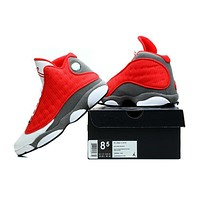 Air Jordan 13 Retro Aj13 Red/white/gray Men Basketball Shoes