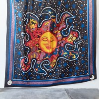 Online Only Patchwork Night Sun Tapestry