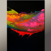 Abstract Canvas Art Painting 18x24 Contemporary Modern Original Art by Destiny Womack - dWo - The Chase