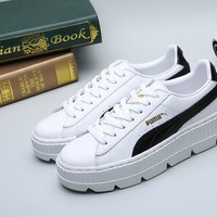 Best Deal Online PUMA X FENTY Cleated Creeper SUEDE Black White