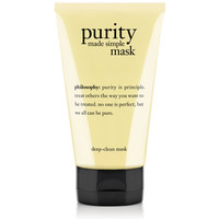 purity made simple | deep-clean mask | philosophy
