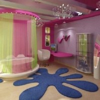 Cute Ideas Room Girls Bedroom - Fitted Wardrobes, Anime Images, Painting Designs For Kids Rooms on Saturday, 4th August 2012, 11:38:45 | homahku.com