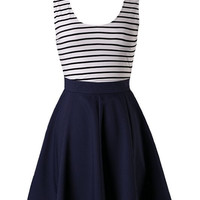 Sailor Stripes Dress - Navy
