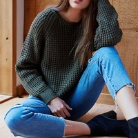 LA Hearts Cropped Shaker Stitch Pullover Sweater at PacSun.com