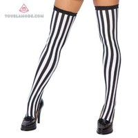 Thigh Highs Stripped Stockings