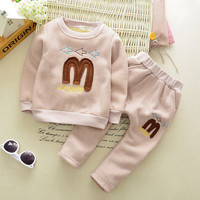 Branded pure Cotton 2016 Baby Boys Clothing Toddler 2pcs Children Suits Summer Baby Kids Clothes Clothing Sets long Sleeve Boys