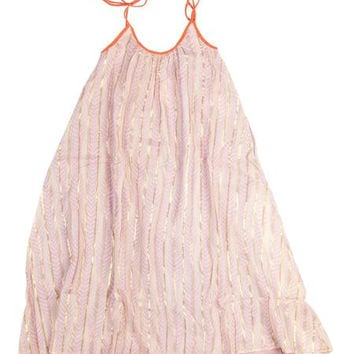 Girl's Feather Maxi Dress