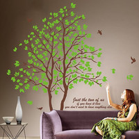 Big tree with free birds  Wall Decal Wall Sticker Home Decal Home Sticker
