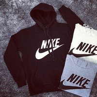 "[ FREE SHIPPING ] "" Nike "" Like Letter Logo Print Cotton Autumn Sports Long Sleeve Women Casual Hoodie  Sweatshirt Shirt Top Blouse T-Shirt _ 9248"