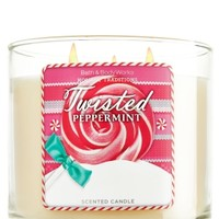 14.5 oz. 3-Wick Candle Twisted Peppermint