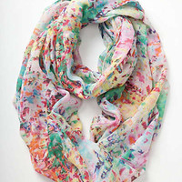 Anthropologie - Blurred Watercolors Infinity Scarf