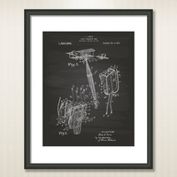 Safety Parachute 1919 Patent Art Illustration - Drawing - Printable INSTANT DOWNLOAD - Get 5 colors background