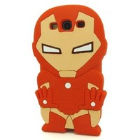 Modal 3D Lovely Stylish Red Iron Man Pattern Soft Silicone Case Skin Protective Cover for Samsung Galaxy S3 i9300