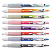 Uni-Ball 1739929 Signo 207 Assorted Ink with Assorted Barrel Colors 0.7mm Retractable Roller Ball Gel Pen - 8/Set