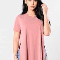 Ain't My Fault Tee - Coral