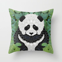 Little Panda Throw Pillow by ArtLovePassion