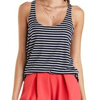 Scoop Neck Striped Tank Top by Charlotte Russe