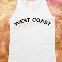 West Coast Shirt Miley Cyrus Shirts Pop Rock Shirts Music Shirts White Shirts Vest Women Tank Top Women Shirts Women Sleeveless Singlet