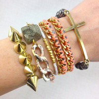 Just Peachy Stacked Bracelet Set