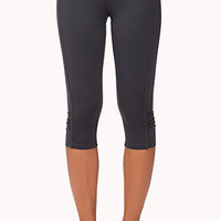 Paneled Ruched Athletic Capris