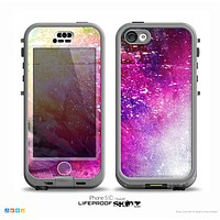 The Abstract Neon Paint Explosion Skin for the iPhone 5c nüüd LifeProof Case