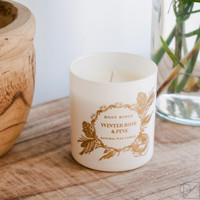 Winter Rose & Pine Gift Candle