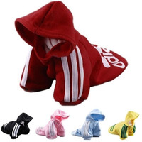 2014 New Fashion Autumn Winter Summer PET Dog Clothes Cotton Sportswear Cool Clothes For Dogs adidog Size XS S M L XL 2XL Hot Sale!!! = 1929953988