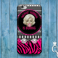 iPhone 4 4s 5 5s 5c 6 6s plus iPod Touch 4th 5th 6th Gen Cool Being Normal is Boring Quote Pink Weird Girly Girl Funny Phone Cover Cute Case