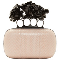 Pink Snakeskin & Knucklebox Clutch
