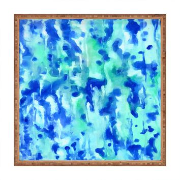 Rosie Brown Blue On Blue Square Tray