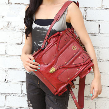 mochilas mujer 2016 youth Gothic Steampunk backpack in retro rock women backpack men's tactical backpack Rock Steam punk bag