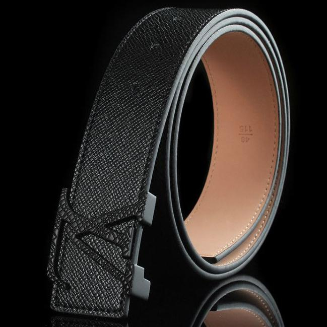Image of Louis Vuitton Fashion Smooth Buckle Belt Leather Belt