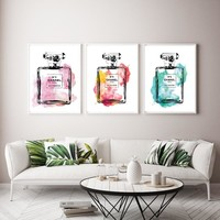 Modern Home Decor Multicolor Perfume Bottle Wall Art Wall Pictures For Living Room Canvas Painting Posters and Prints Wall Photo