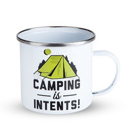 Camping Is Intents Enamel Mug by Foster and Rye
